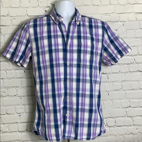 3d6dc917 Tommy Hilfiger Shirts | Mens Medium Button Down Polo | Poshmark
